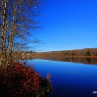 Looking Northwest over the pond in Hurleyville, NY., Либерти