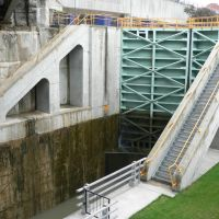 Erie Canal lock - Lockport, NY, Локпорт