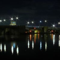 Long Beach Memorial Bridge at Night, Лонг-Бич