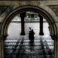 "Central Park, New York City, ""Violoncellist"", Манхаттан"