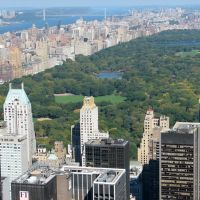 Central Park viewe dfrom top of the Rock, Манхаттан