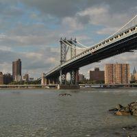 View of New York from Manhattan Bridge - New York (NYC) - USA, Миддл-Хоуп