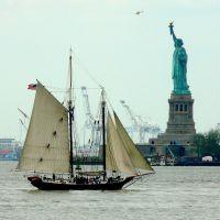 USA, sur Liberty Island, la Statue de la Liberté de 46m fût achevée le 28 Octobre 1886, Норт-Вэлли-Стрим