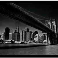 Black Brooklyn Bridge, Нью-Йорк