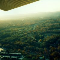 Turning Right Base for Runway 24 over Red Oaks Mill at Dutchess County Airport, Poughkeepsie, NY - 1986, Нью-Хакенсак