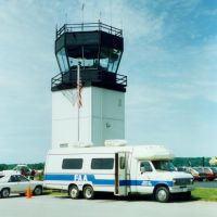 FAA Aviation Education Van and Airport Control Tower at at Dutchess County Airport, Poughkeepsie, NY, Нью-Хакенсак