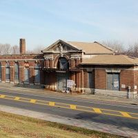 "Former New York Central Railroad Station, on the ""River Line"" at Newburgh, NY, Ньюбург"