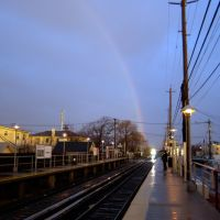 Rainbow from Oceanside LIRR Station, Оушннсайд
