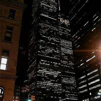 05030052 March 5th, 2000 New York WTC Twin Towers at night  - NW view, Перрисбург