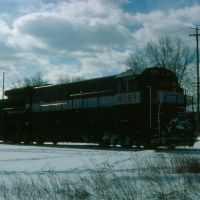 New Jersey Department of Transportation GE U34CH No. 4151 at Port Jervis, NY, Порт-Джервис