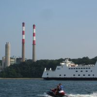 Ferry in Port Jefferson, Порт-Джефферсон