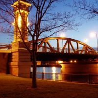 Ford Street Bridge at Night, Rochester, NY, Рочестер