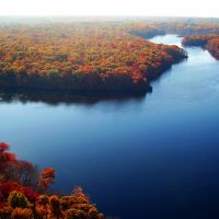 Stump Pond Aerial View, Blydenburgh County Park, Suffolk County, NY, Смиттаун