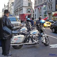 New York, ... una bella motocicletta...