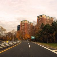 Bronx River Parkway approaching routes 100 and 119, Уайт-Плайнс