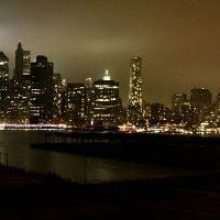 9/11 10 year anniversary Twin Tower memorial lights., Хадсон