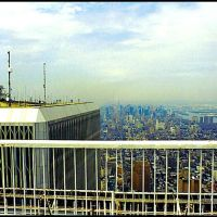To remember ... the terrace at the top of the Twin Towers, NY 1996..© by leo1383, Хадсон-Фоллс