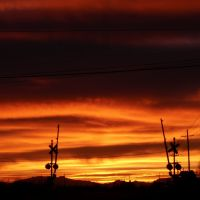 Burning sunset, Аламогордо
