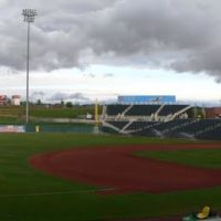 Isotopes Park panorama, Albuquerque, Альбукерк
