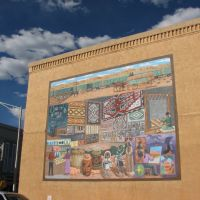 Native American Trading Mural by Chester Kahn - Gallup, NM, Гэллап