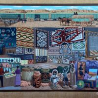 Wall painting in Gallup, New Mexico, Гэллап