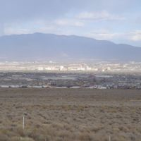 Albuquerque Downtown from i40, Лас-Крукес