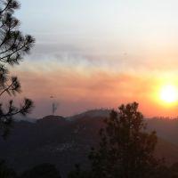 Las Conchas Fire Sunset, Лос-Аламос