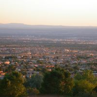 albuquerque,sunset desde sandia, Ранчес-оф-Таос