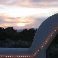 Sunset at a Taos Restaurant, Ранчос-Де-Таос
