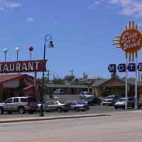 Sun n Sand Motel on Roite 66, Santa Rosa, New Mexico, Санта-Роза