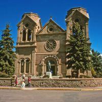 St. Francis Cathedral Basilica, near Historic Route 66, Santa Fe, New Mexico, Санта-Фе