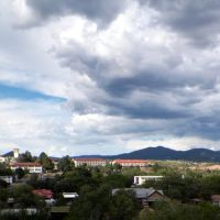 View of WNMU from Boston Hill with mountain range behind., Силвер-Сити
