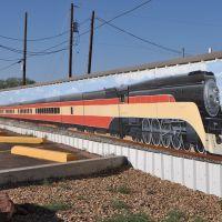 Tucumcari mural of train, Тукумкари