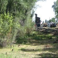 Arriving at Chama on Cumbres and Toltec RR, Чама