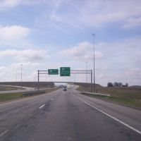 US 23 heading south at Junction US 30 East, Аппер-Сандуски