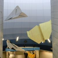 Giant paper airplane sculptures in the underground walkway between Concourses C and D.  in 2012, Брук-Парк