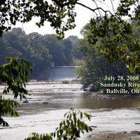 Sandusky river from the bridge at Ballville Ohio., Грин-Спрингс