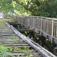 Old Railroad Bridge over Muskingum River, Harmar Village, OH, Девола