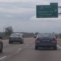 Exit 44 to I-675 South & Spangler Rd on I-70 Westbound & OH-4 Southbound 04/24/2011, Доннелсвилл