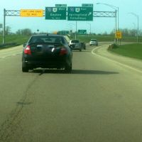 Exit 26A to I-70 East & OH-4 North on I-675 Northbound 04/30/2011, Доннелсвилл