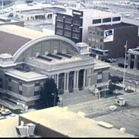1985 View of Memorial Hall from Office Bldg - Downtown, Dayton, OH, USA, Дэйтон
