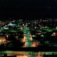 1987, view of downtown Dayton, Ohio from top of 4th street building, Дэйтон