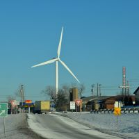 Wind turbine at E222 st & St. Clair Ave, Евклид