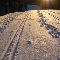 XC ski tracks, cross country skiing, Village of Indian Hill, Ohio, Индиан Хилл