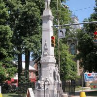 Guernsey County Civil War Monument, Courthouse Grounds, Cambridge, Ohio, Кембридж