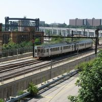 RTA Red Line viaduct, Cleveland, Кливленд