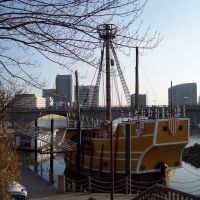 Columbus Ohio- Santa Maria-Replica of Christopher Columbuss ship, downtown riverfront, Колумбус