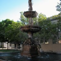 Old City Fountain, Downtown, Lancaster, Ohio, Ланкастер