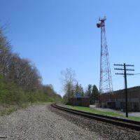 Radio tower and tracks headed south, Марбл-Клифф