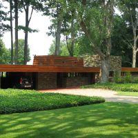 Frank Lloyd Wright usonian house, North Madison, Ohio, Норт-Мэдисон